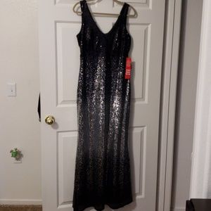 Black & Silver Formal gown